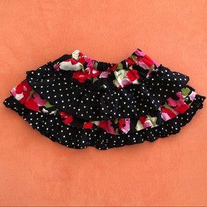 *3 for $15* toddler girl floral & polka dot skirt